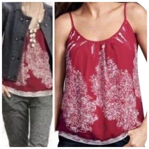 Cabi Township Red & White Cami Tank Style 162
